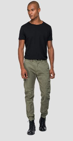 Cargo trousers with elasticated hem