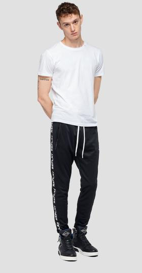 Joggers with writings