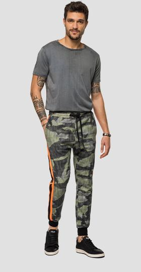 Jogger with camouflage print