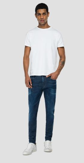 Slim fit Hyperflex Re-Used White Shades Bronny jeans