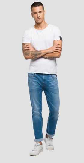 Jeans straight fit Hyperflex Laserblast Grover