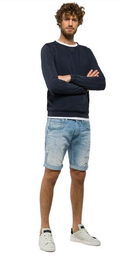 Anbass slim-fit bermuda shorts ma996 .000.34c980r