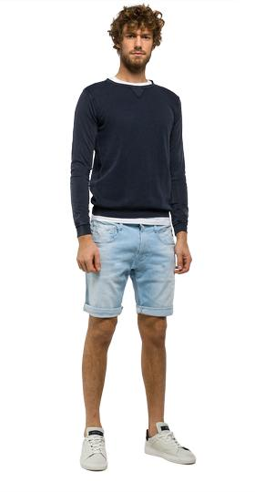 Anbass slim-fit bermuda shorts ma996 .000.95a 990