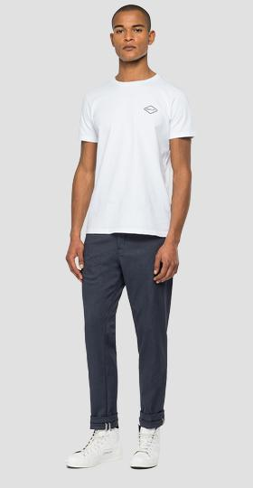 REPLAY ALL BLACKS TWILL CHINO TROUSERS