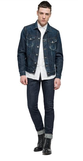 Jacke aus Dark Stretch Denim mv842c.000.17b 147