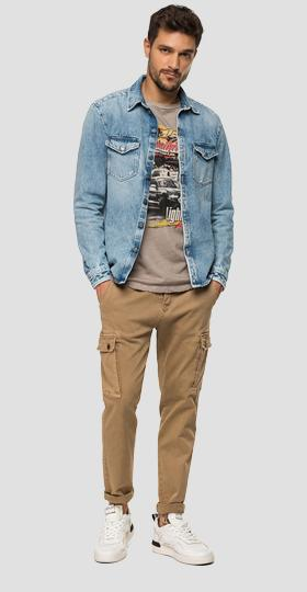 Regular Fit Hemdjacke aus Denim