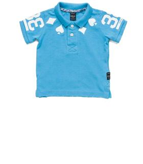 Boys' printed pique polo shirt pb7524.052.20334