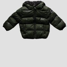 Padded jacket with REPLAY print