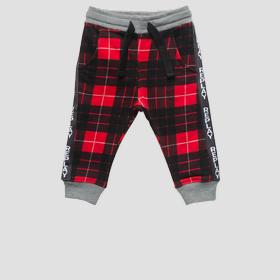 Checked fleece trousers