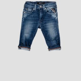 Jeans with elasticated waistband