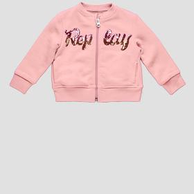 Replay sweatshirt with zipper and sequins