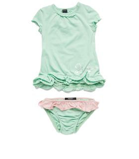Girls' cotton dress and bloomer set pg3140.050.20994