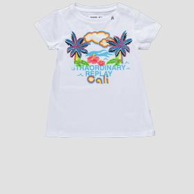 T-shirt with glitter Cali print