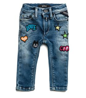 Girls' jeans with patches pg9208.059.09c 299
