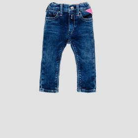 Denim pants with faded effect