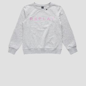 Sweatshirt with REPLAY print