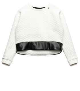Girls' quilted crop sweatshirt sg2063.050.20870