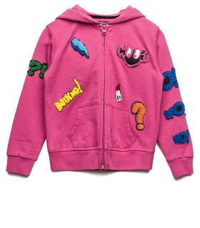 Girls' cotton hoodie with patches sg2375.050.20397