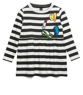 Girls' striped jersey dress sg3819.050.2660k