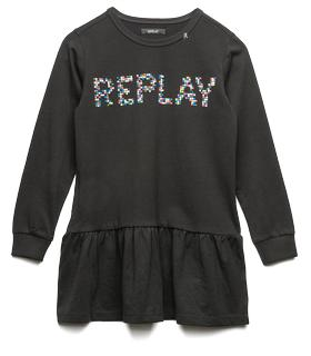 Girls' REPLAY print dress sg3823.050.2660