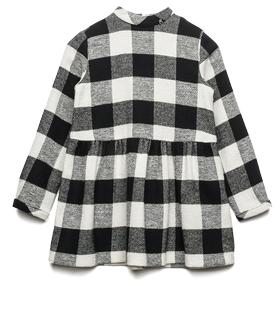 Girls' checked wool blend dress sg3829.050.51878
