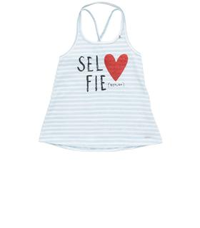 Girls' printed top with glitter sg7453.050.20994e