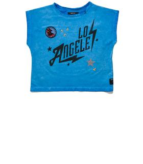 Girls' printed T-shirt with patches sg7460.050.20500