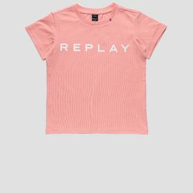 Jersey t-shirt with REPLAY glitter print