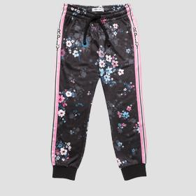 Trousers with all-over floral print