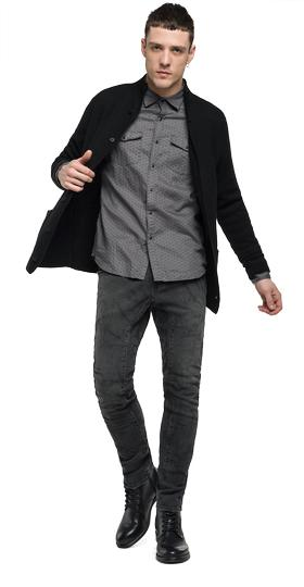 Cardigan aus Wolle mit Revers uk1611.000.g22230