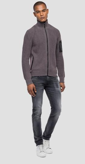 Turtleneck cotton pullover