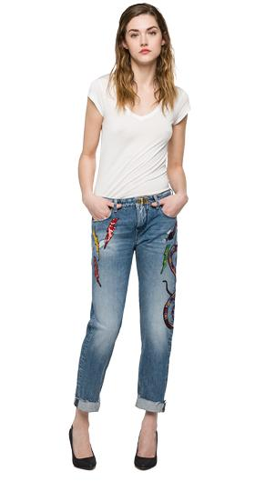 Vaqueros carrot fit We are Replay Cindee vd1261.000.v59cg87
