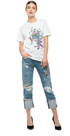 We are Replay peacock T-shirt vd7625.000.v21384r