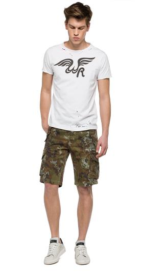 We are Replay camouflage bermuda shorts vu2691.000.v70495
