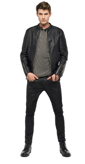 We are Replay leather jacket vu3809.000.v82978