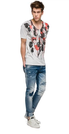 We are Replay tulip print T-shirt vu7962.000.v21384