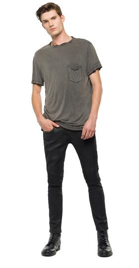 We Are Replay T-shirt with chest pocket vu7963.000.v22506