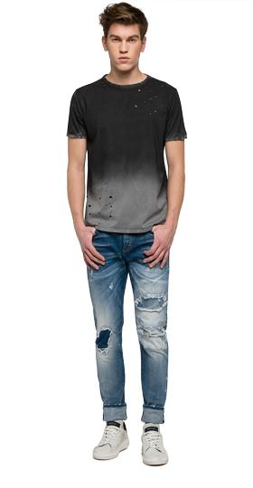 We are Replay distressed T-shirt vu7965.000.v21384f