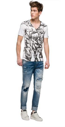 We are Replay printed T-shirt vu7968.000.v21384