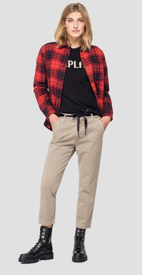 REPLAY ATELIER shirt with tartan print