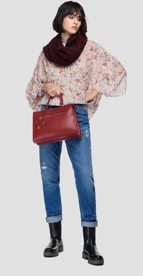 Shirt in pleated georgette