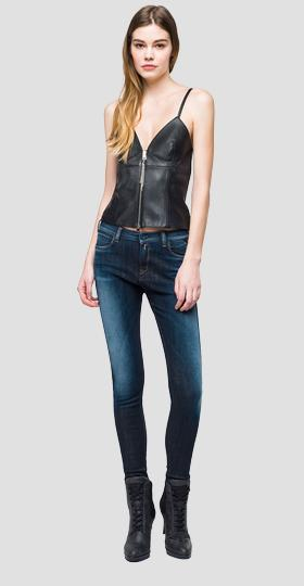 Eco-leather cami top