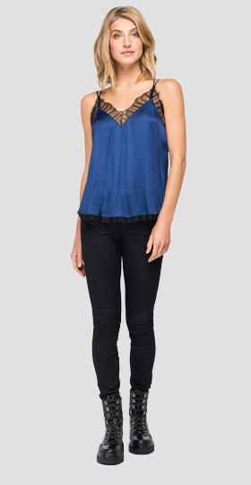 V-neck viscose cami top