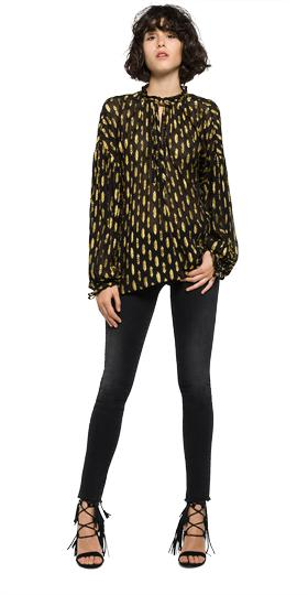 Viscose blouse with lurex details w2826 .000.82688