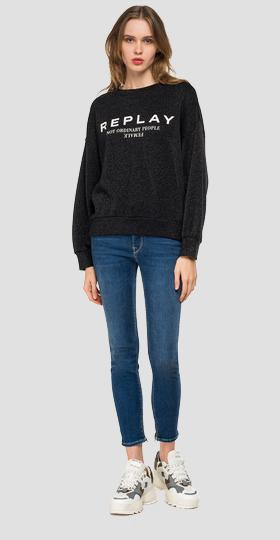 REPLAY-Sweatshirt mit Lurex