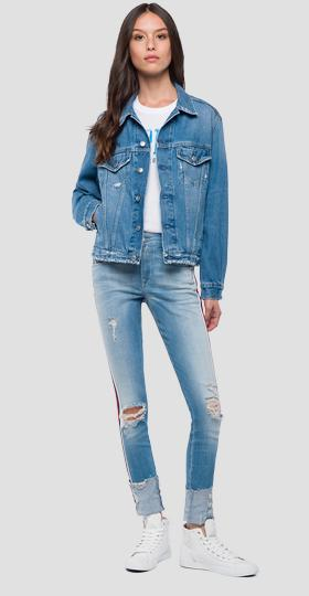 Vintage effect denim jacket