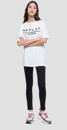 Oversized t-shirt with writing