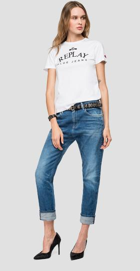 T-shirt with REPLAY BLUE JEANS print