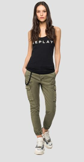 Replay cami top in stretch cotton