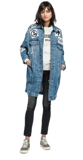 Oversized denim jacket w7290 .000.36c187p